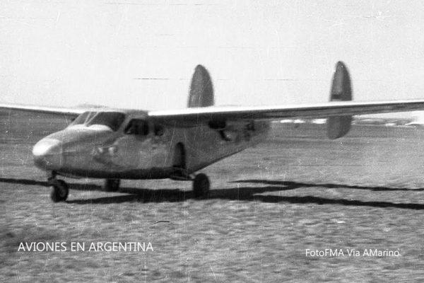 El IA-45 en la carrera de despegue el 23 de Septiembre de 1957