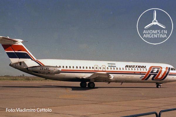 El LV-LHT fotografiado en el Aeropuerto de Rosario en Dic86