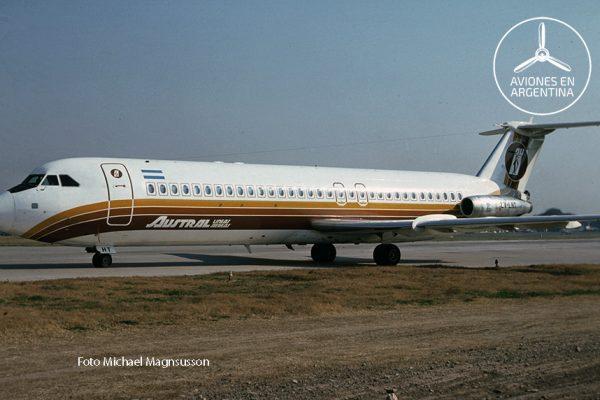 El LV-LHT retornando de un vuelo luego de haber aterrizado por la cabecera sur del Aeroparque
