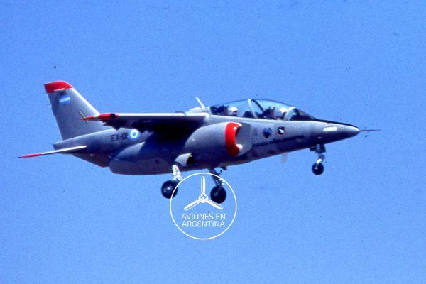 Momento histórico el Pampa IA-63 EX-01 comenzando con su primer vuelo Foto Jorge Raúl Figari