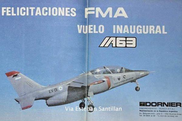 Publicidad de la empresa Dornier en la Revista Aeroespacio en conmemoración del primer vuelo